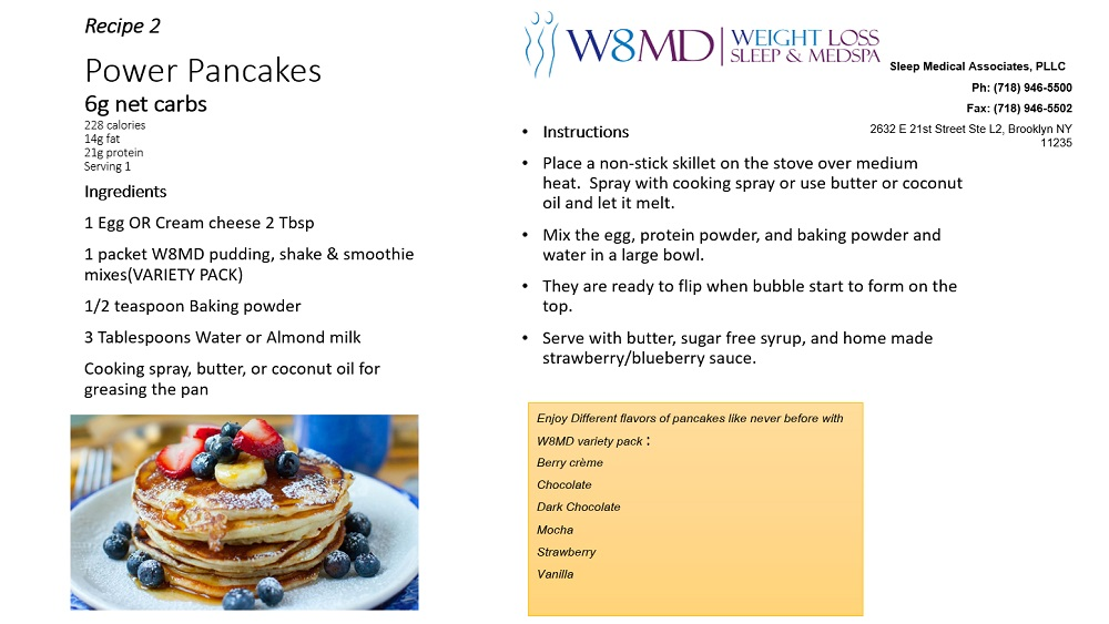 W8MD keto powder pancakes
